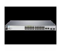 "Коммутатор HP 2530-24-PoE+ Switch (24 x 10/ 100 + 2 x SFP + 2 x 10/ 100/ 1000, Managed, L2, virtual stacking, POE+ 195W, 19"") (repl. for J9138A) (J9779A#ABB)"